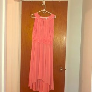 High low peach formal dress